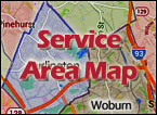 Burlington MA Heating & Air Conditioning Service area
