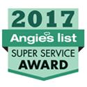 2017 Angie's List Super Service Award Winner