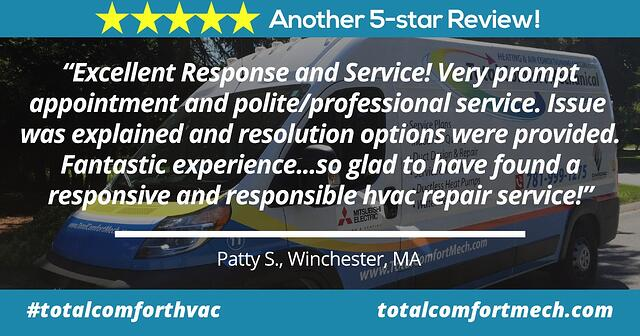 Review of Total Comfort Mechanical by Patty, Wincheseter MA