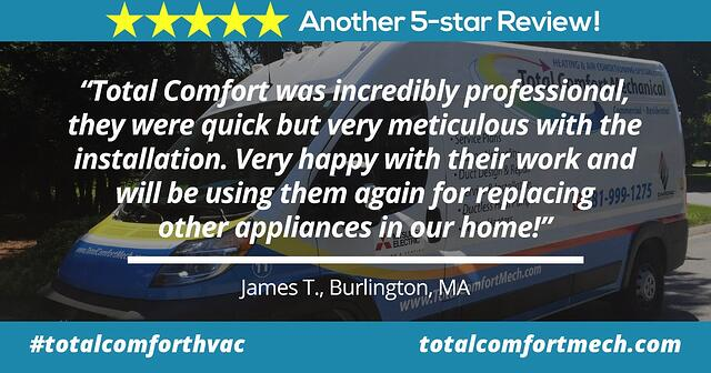 Review of Total Comfort Mechanical by James, Burlington, MA
